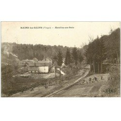 carte postale ancienne 88 BAINS LES BAINS. Moulins au Bois 1918