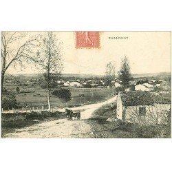 carte postale ancienne 88 BEGNECOURT. Attelage sur la Route 1907. Légères plissures