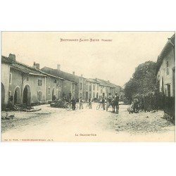 carte postale ancienne 88 BETTEGNEY SAINT BRICE. La Grande Rue 1909