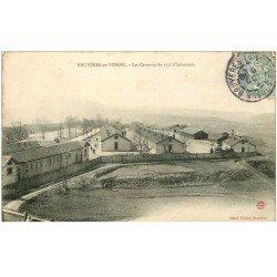 carte postale ancienne 88 BRUYERES EN VOSGES. Caserne du 152 Infanterie 1906. Pli coin droit