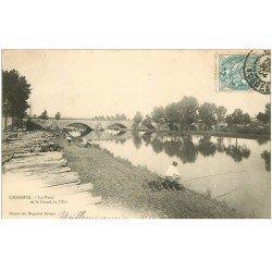 88 CHARMES SUR MOSELLE. Canal du Moulin au Pont des Chèvres. Carte de Luxe légèrement granulée. Edition Batillot