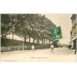 carte postale ancienne 88 EPINAL. Avenue de la Gare vers 1900. Timbrée mais verso vierge