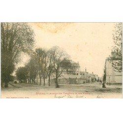 carte postale ancienne 88 EPINAL. Avenue des Templiers et Rue Thiers 1903