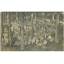 carte postale ancienne 88 EPINAL. Carte Photo groupe de Militaires dans les Bois 1916