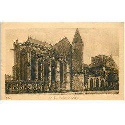 carte postale ancienne 88 EPINAL. Eglise Saint Maurice