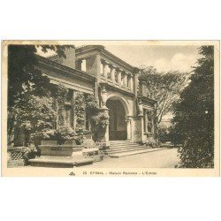 carte postale ancienne 88 EPINAL. Entrée Maison Romaine 1937