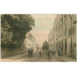 carte postale ancienne 88 EPINAL. La Poste Rue Thiers 1908