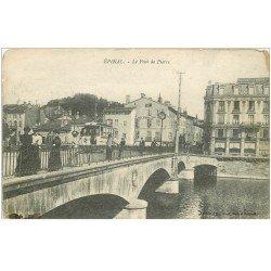 carte postale ancienne 88 EPINAL. Le Pont de Pierre