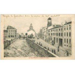 carte postale ancienne 88 EPINAL. le vieil Epinal à 5 heures du matin 1919 la vidange des pots de chambre