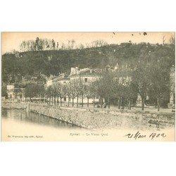 carte postale ancienne 88 EPINAL. Le Vieux Quai 1902