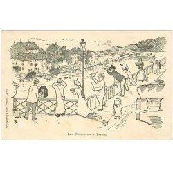carte postale ancienne 88 EPINAL. Les Touristes. Photogravure Testart