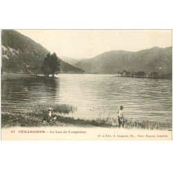 carte postale ancienne 88 GERARDMER. Animation Lac de Longemer