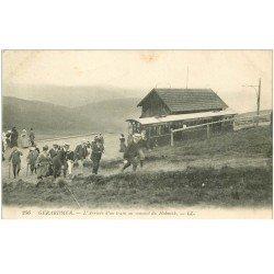 carte postale ancienne 88 GERARDMER. Arrivée d'un Train au Sommet du Hohneck
