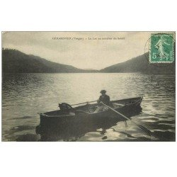 carte postale ancienne 88 GERARDMER. Canoteur sur le Lac 1913
