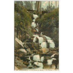 carte postale ancienne 88 GERARDMER. Cascade de Merelle le Torrent 1911