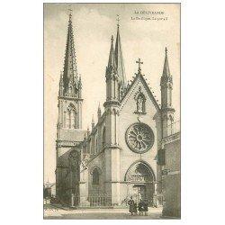 carte postale ancienne 14 LA DELIVRANDE. Basilique Portail