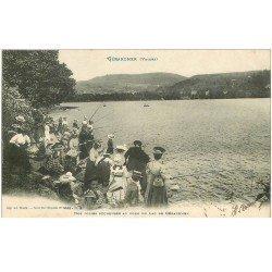 carte postale ancienne 88 GERARDMER. Concours de Pêcheuses au Lac de Retournemer 1908. Pêche et Poissons