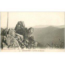 carte postale ancienne 88 GERARDMER. La Roche du Chameau