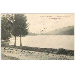 carte postale ancienne 88 GERARDMER. Le Lac route de Ramberchamp 1904