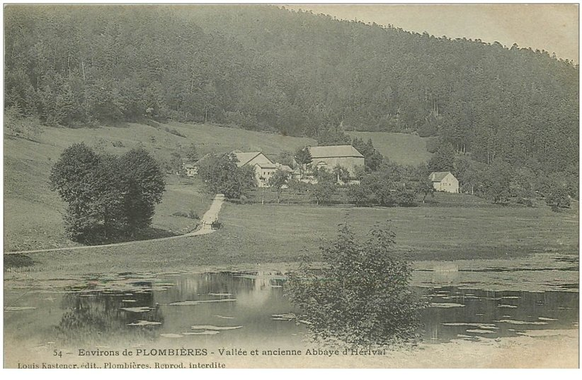 carte postale ancienne 88 HERIVAL. Abbaye dans la Vallée vers 1900