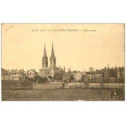 carte postale ancienne 14 LA DELIVRANDE. Panorama 1945
