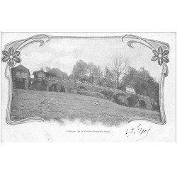 carte postale ancienne 88 LA FEUILLEE DOROTHEE. Le Val d'Ajol 1905 Hôtel et Terrasse