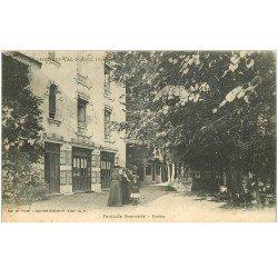 carte postale ancienne 88 LA FEUILLEE DOROTHEE. Le Val d'Ajol Grand Hôtel 1905 animation vers Plombières