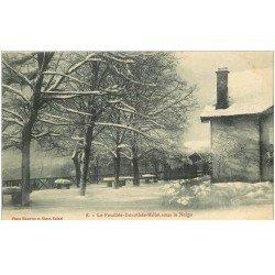 carte postale ancienne 88 LA FEUILLEE DOROTHEE. Le Val d'Ajol Hôtel sous la Neige