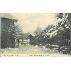 carte postale ancienne 88 LA FEUILLEE DOROTHEE. Le Val d'Ajol Hôtel sous la Neige. Carte écrite