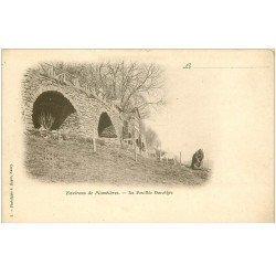 carte postale ancienne 88 LA FEUILLEE DOROTHEE. Vers 1900 Chevrière et Chèvre