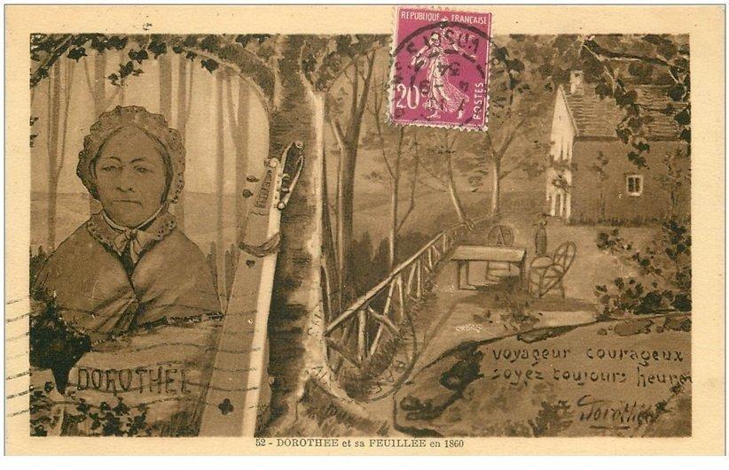 carte postale ancienne 88 LE VAL D'AJOL. Dorothée et sa Feuillée 1934