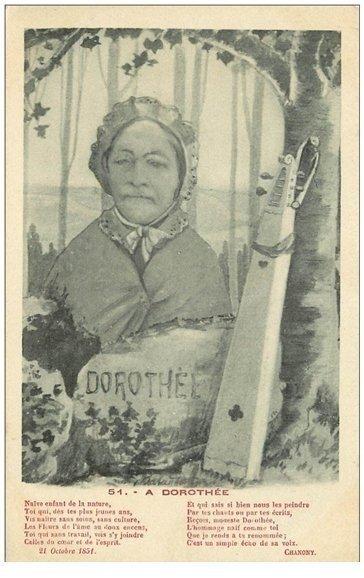 carte postale ancienne 88 LE VAL D'AJOL. Dorothée et sa Feuillée par Chanony