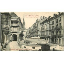carte postale ancienne 88 PLOMBIERES LES BAINS. Bain Romain Rue Stanislas