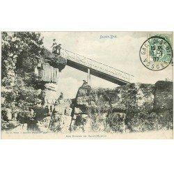 carte postale ancienne 88 SAINT DIE. Aux Roches de Saint Martin 1907