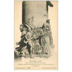 carte postale ancienne 88 SAINT DIE. Monument aux Morts Américains. Sa Marraine