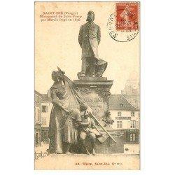 carte postale ancienne 88 SAINT DIE. Monument de Jules Ferry par Mercié 1920