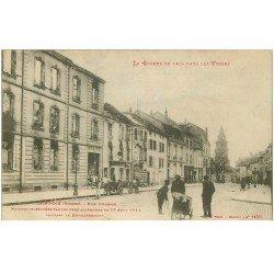 carte postale ancienne 88 SAINT DIE. Rue Alsace incendiée. Guerre 1914-18