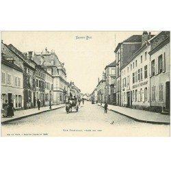 carte postale ancienne 88 SAINT DIE. Rue Stanislas Café Restaurant Le Boes