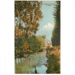 carte postale ancienne 89 AILLANT SUR THOLON. Le Fleuve Tholon