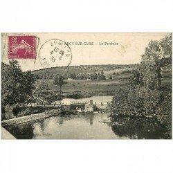 carte postale ancienne 89 ARCY SUR CURE. Le Perthuis 1935 et l'Ecluse