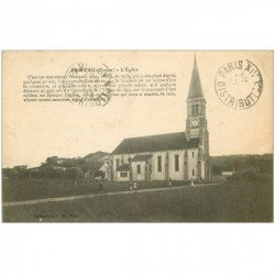 carte postale ancienne 89 ARMEAU. L'Eglise 1923 animation