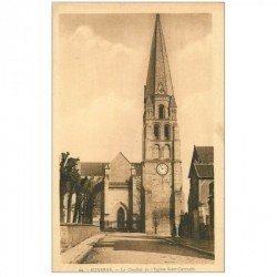 carte postale ancienne 89 AUXERRE. Clocher Eglise Saint Germain