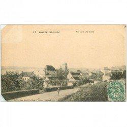carte postale ancienne 89 BUSSY EN OTHE. Enfant sur la Route d'un coin du Pays 1907. Coins gauches biseautés