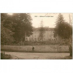 carte postale ancienne 89 CEZY. Château de Jacques Coeur animation