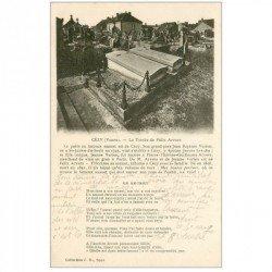 carte postale ancienne 89 CEZY. La Tombe de Félix Arvers