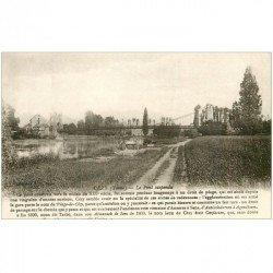 carte postale ancienne 89 CEZY. Pont suspendu