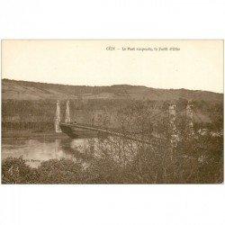 carte postale ancienne 89 CEZY. Pont suspendu et Forêt d'Othe