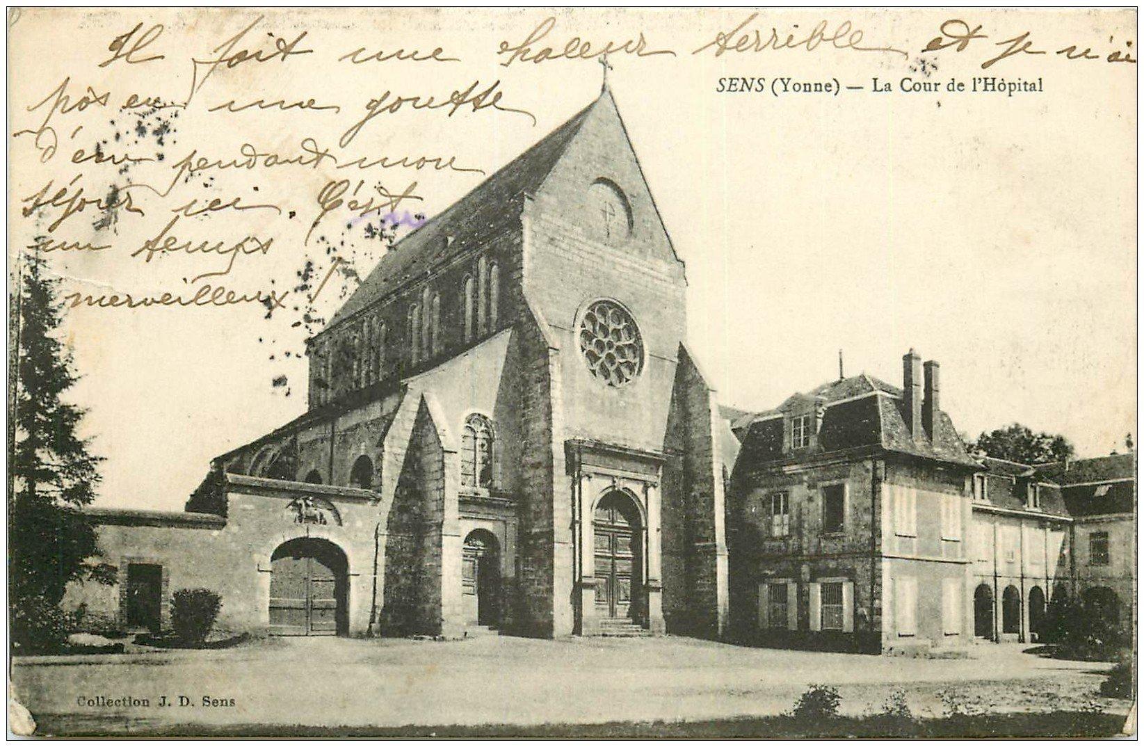 89 sens la cour de l 39 h pital 1915 - La cour des sens ...