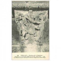 carte postale ancienne 89 VEZELAY. Basilique Châpiteau 8° Pilier Nef 209