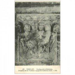 carte postale ancienne 89 VEZELAY. Basilique Châpiteau Collatéral droit